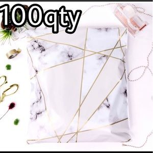 """100 poly mailers marble print size 10""""x13"""""""